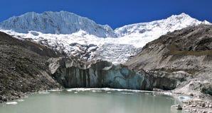 Llaca valley. Cordillera Blanca, Peru, spring Royalty Free Stock Photography