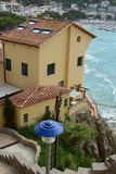 Llafranc. Costa Brava, Spain, view of a street Royalty Free Stock Photo