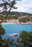 Llafranc fishermen village Costa Brava. The fishermen´s village of Llafranc at the catalan Costa Brava is a popular destination for thousands of tourists in Royalty Free Stock Images