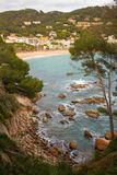 Llafranc fishermen village Costa Brava. The fishermen´s village of Llafranc at the catalan Costa Brava is a popular destination for thousands of tourists in Royalty Free Stock Image