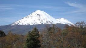 Llaima vulkan Royaltyfri Fotografi