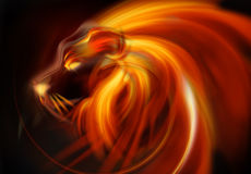 Llama abstracta de la cabeza del león libre illustration