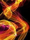Llama abstracta del fuego en fondo negro libre illustration