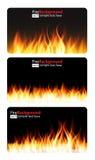 Llama ardiente de la bandera del fuego Ilustración del vector Fotos de archivo libres de regalías
