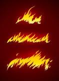 Llama ardiente de la silueta del vector del fuego ilustración del vector