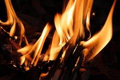 Llama ardiente del fuego imagen de archivo libre de regalías