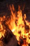 Llama de la hoguera grande Imagen de archivo libre de regalías