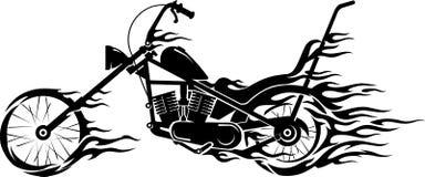 Llama de la motocicleta del vintage stock de ilustración