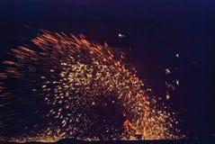 Llama de oro Imagen de archivo