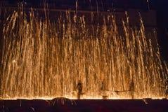 Llama de oro Imagenes de archivo