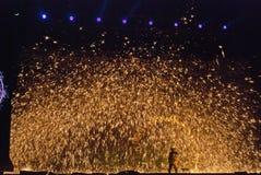 Llama de oro Fotos de archivo