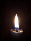 Llama de una vela Fotografía de archivo libre de regalías