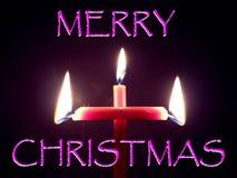 Llama de velas formada la Navidad fotografía de archivo libre de regalías
