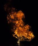 Llama del fuego en fondo negro fotografía de archivo libre de regalías