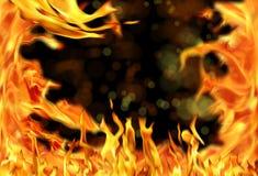 Llama del fuego en negro foto de archivo