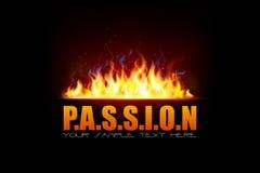 Llama del fuego que muestra la pasión stock de ilustración