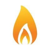 Llama del fuego que quema diseño caliente libre illustration