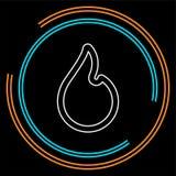 Llama del fuego del vector, muestra del fuego - el símbolo caliente de la quemadura aisló ilustración del vector