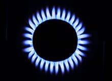 Llama del gas natural Foto de archivo libre de regalías