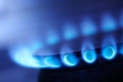 Llama del gas natural Imágenes de archivo libres de regalías