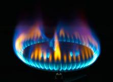 Llama del mechero de gas de la cocina Imágenes de archivo libres de regalías