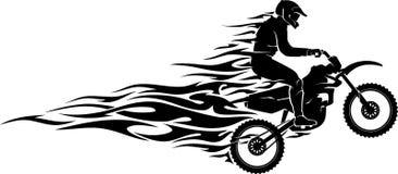 Llama del motocrós ilustración del vector