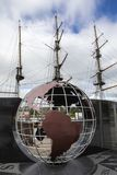 Llama emigrante y el Dunbrody nuevo Ross imagen de archivo