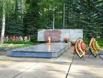 Llama eterna de Obninsk Imágenes de archivo libres de regalías