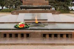 Llama eterna del monumento En el cuadrado de los combatientes caidos foto de archivo libre de regalías