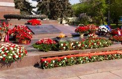 Llama eterna del monumento En el cuadrado de los combatientes caidos Vo fotos de archivo