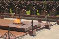 Llama eterna en el monumento militar foto de archivo