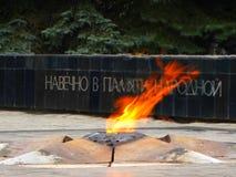 Llama eterna, en memoria de la guerra Imagen de archivo libre de regalías