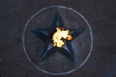 Llama eterna - símbolo de la victoria en la Segunda Guerra Mundial Imagenes de archivo