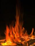 Llama hermosa del fuego Imagenes de archivo