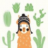 Llama In Sombrero Stock Photo