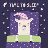 Llama linda el dormir libre illustration