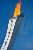Llama olímpica en Sochi Imagen de archivo libre de regalías
