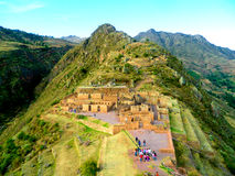 Pisac in the sacred valley, Cusco Royalty Free Stock Image
