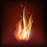 Llama realista del fuego Imagenes de archivo