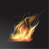Llama realista del fuego Fotos de archivo
