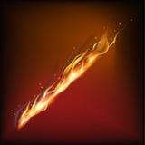 Llama realista del fuego Fotografía de archivo