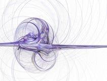 Llama rendida púrpura en blanco ilustración del vector