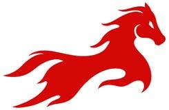 Llama roja del caballo ilustración del vector