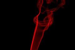 Llama roja del humo Imágenes de archivo libres de regalías