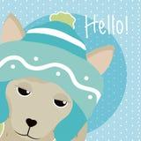 Llama Cute animal cartoon. Llama Saying hello cartoon vector illustration graphic design Stock Photography