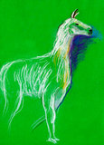 Llama sketch Royalty Free Stock Images