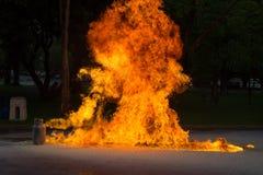 Llama y explosivo del gas del gas Foto de archivo libre de regalías