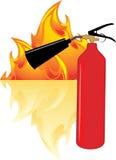 Llama y extintor libre illustration