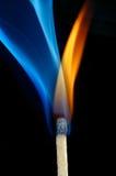 Llama y humo Foto de archivo