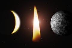 Llama y planeta ilustración del vector